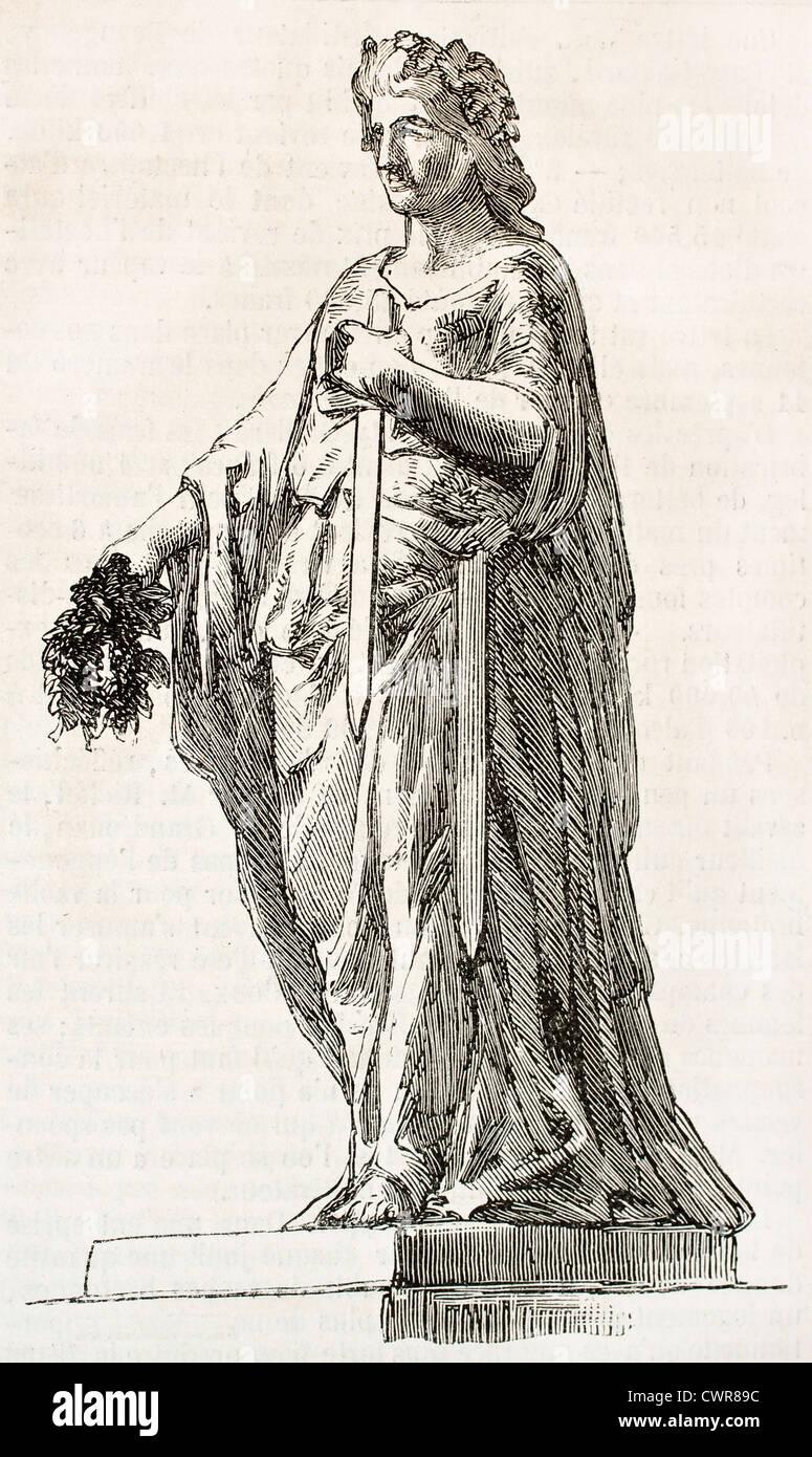 Brittany sculptural representation - Stock Image