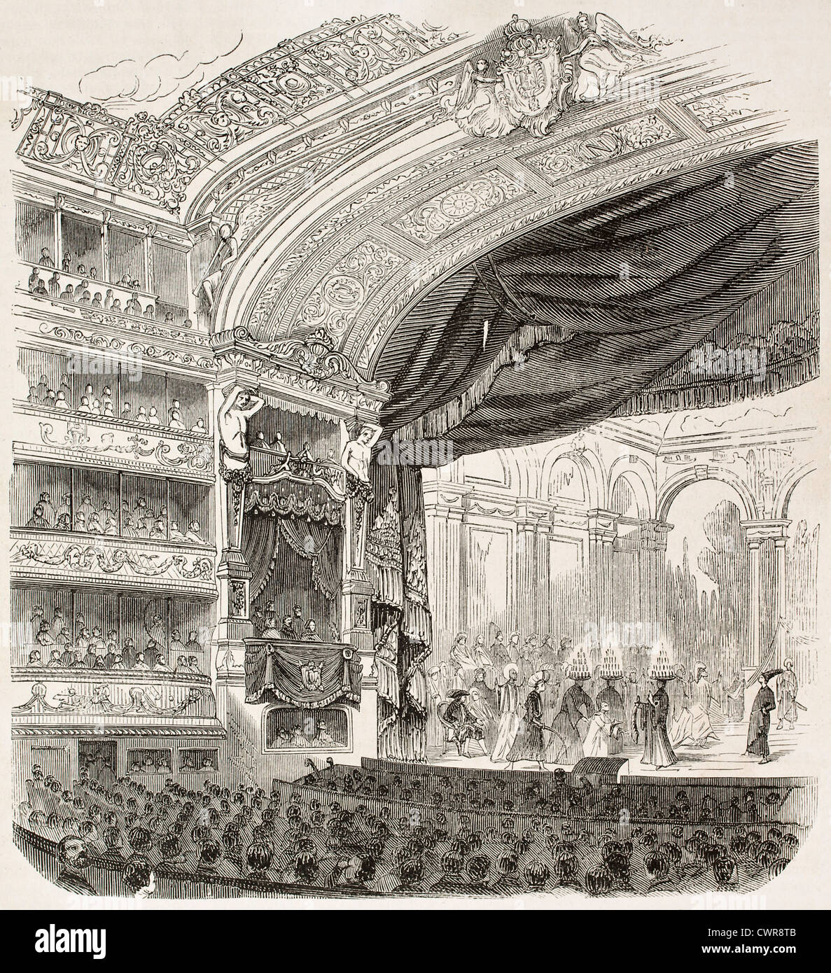 Comedie-Francaise theatre - Stock Image