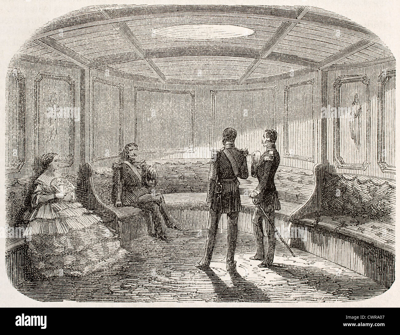Napoleon III imperial yacht - Stock Image