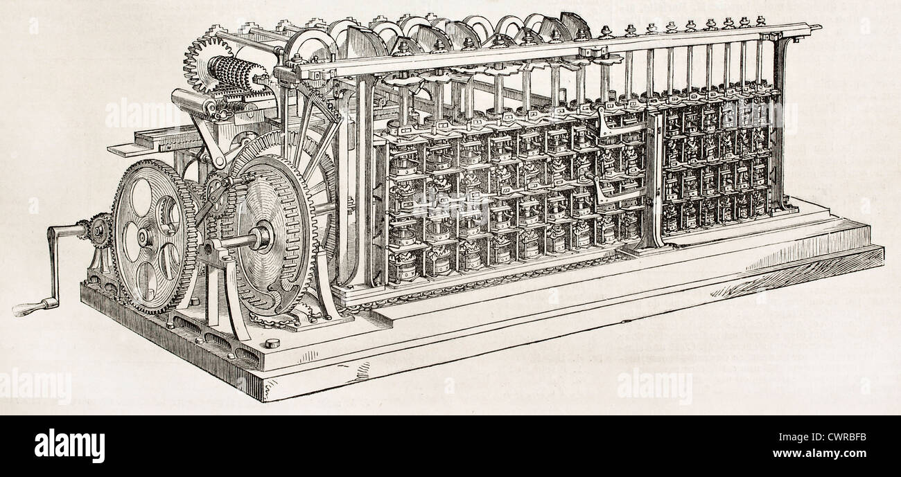 calculation engine - Stock Image