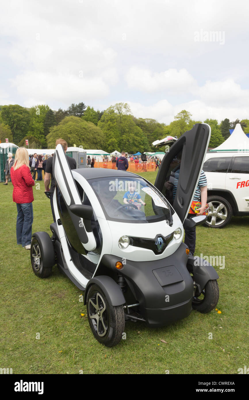 A Renault Twizy electric car on display at the Lancashire Countryside Experience Day near at Witton Country Park Stock Photo