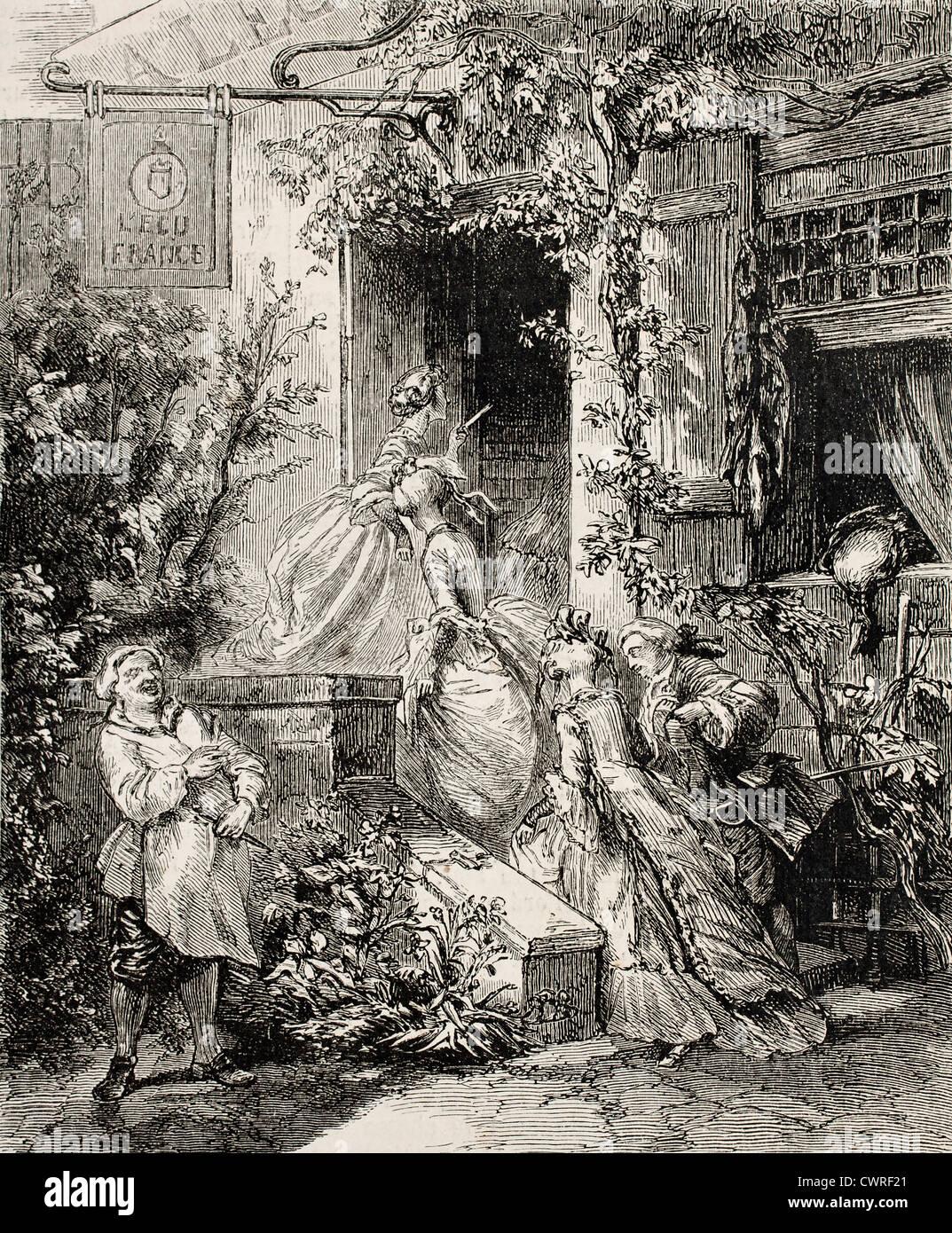 Inn's entrance - Stock Image