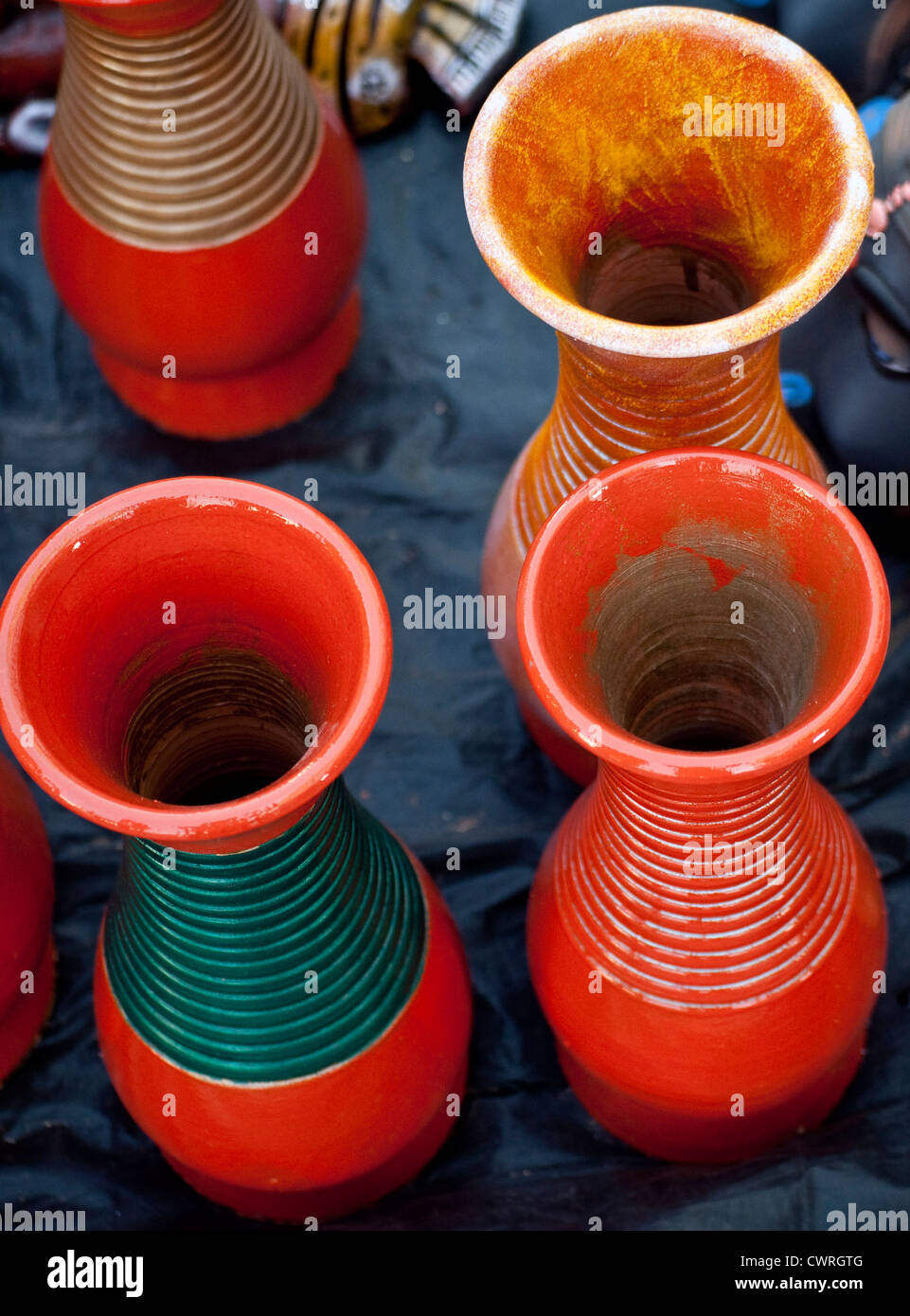 Colorful clay pots for home decoration Stock Photo: 50305264 ...