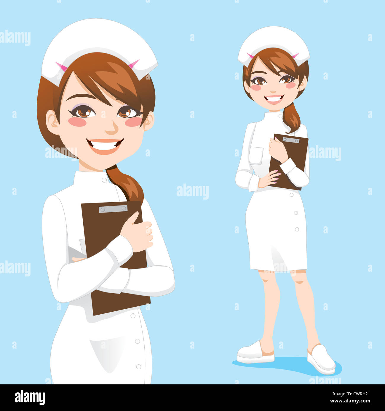 Nurse Cartoon High Resolution Stock Photography And Images Alamy