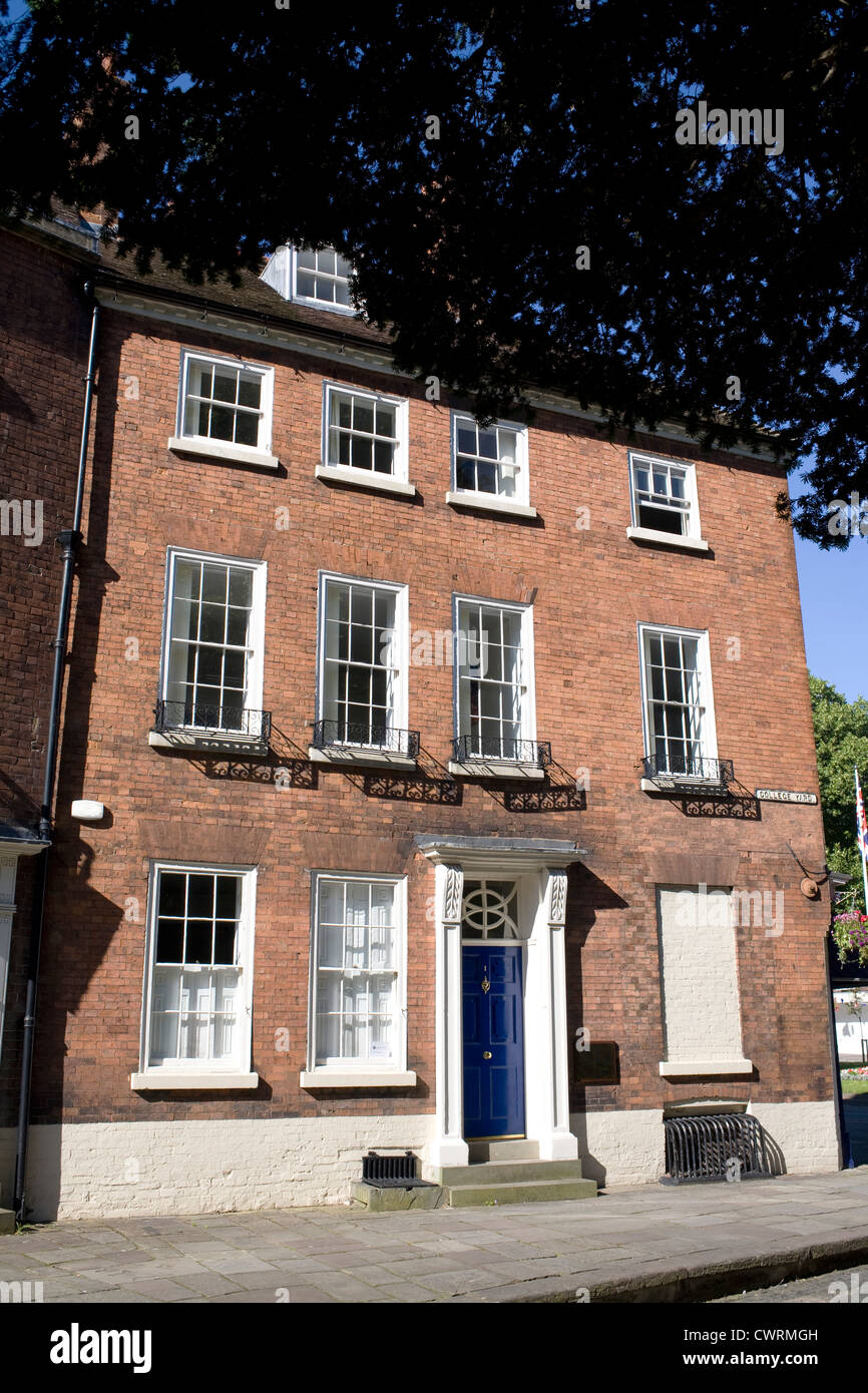 One two and three college yard, Worcester, now serving as offices for Bishop, Fleming and Rabjohns, who are accountants - Stock Image