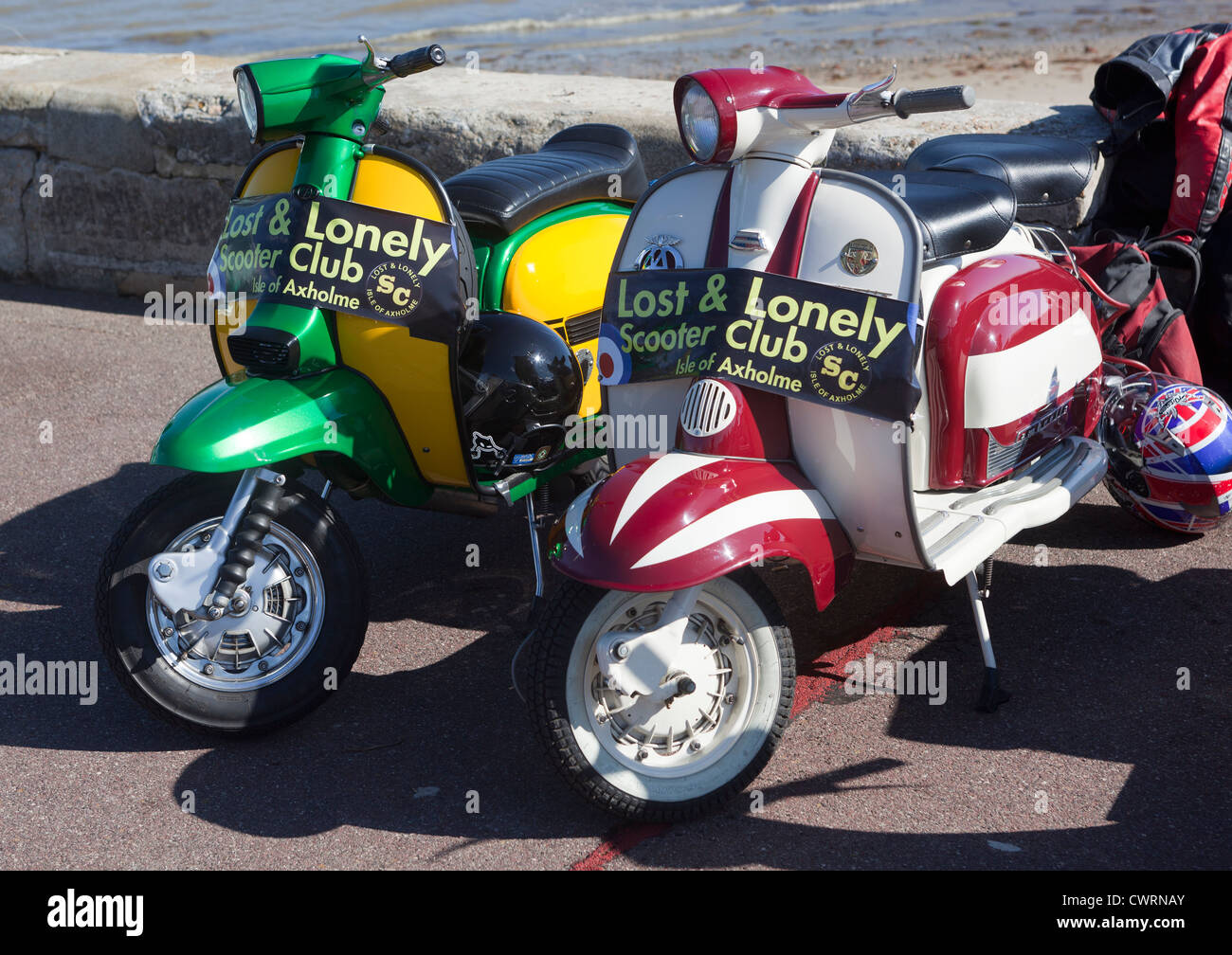 Lost and Lonely Scooter Club Isle of Axholme - Stock Image