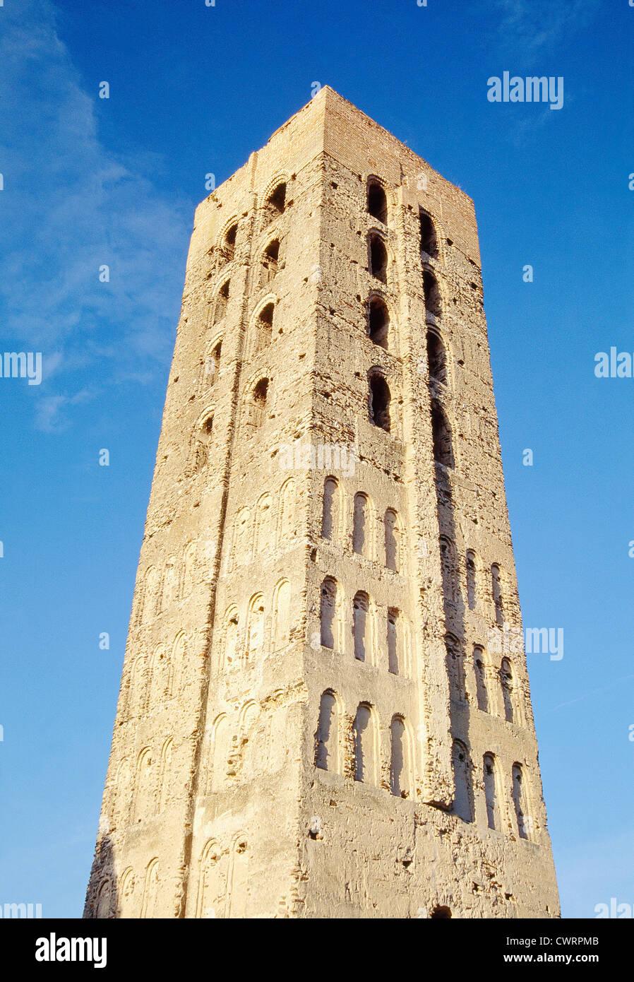 San Nicolas tower. Coca, Segovia province, Castilla Leon, Spain. - Stock Image