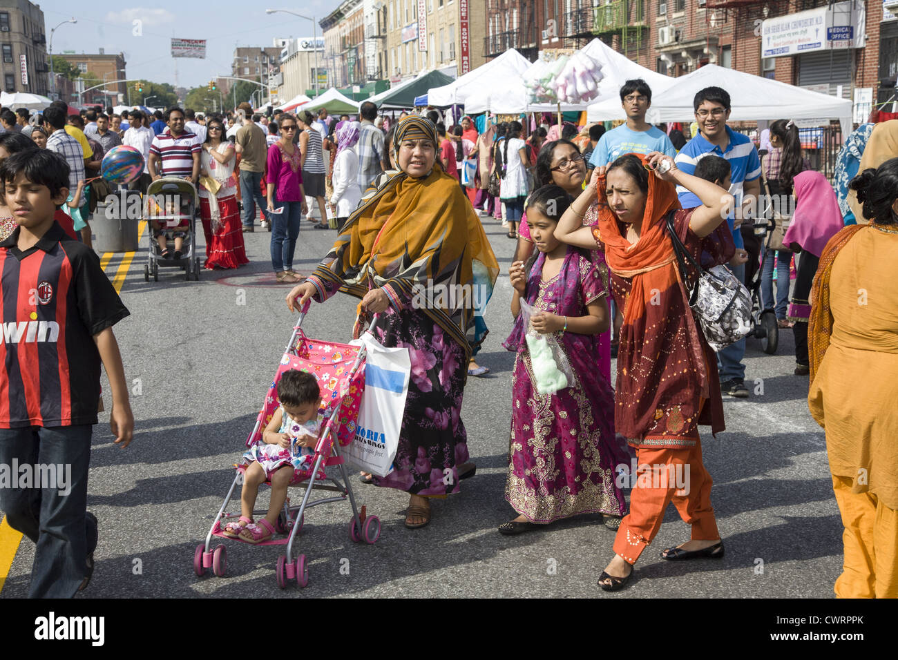 Bangladeshi immigrant community has a street festival in the Kensington section of Brooklyn, NY. - Stock Image