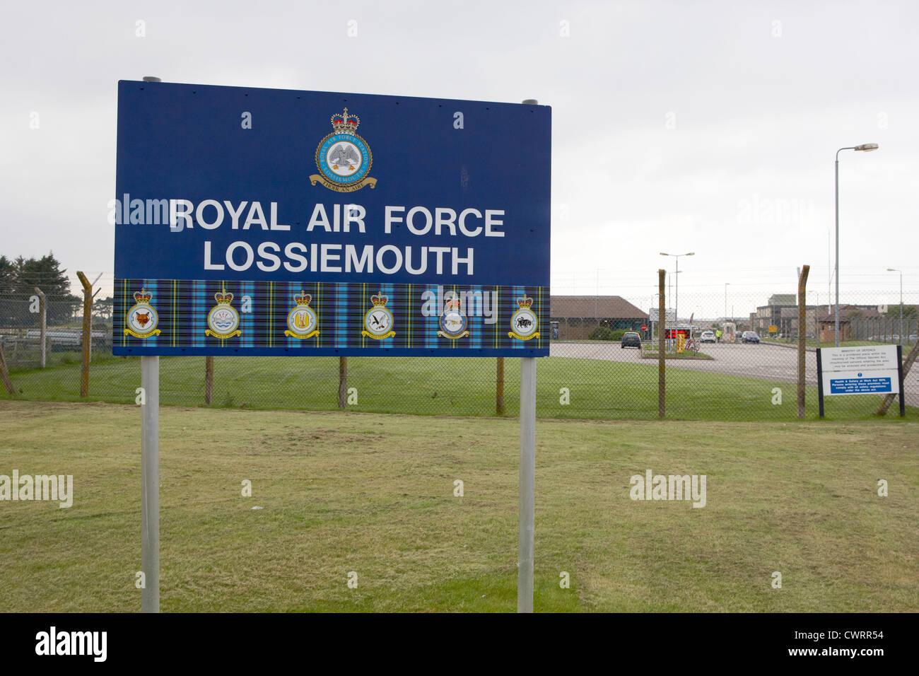 RAF Lossiemouth air force base scotland uk - Stock Image