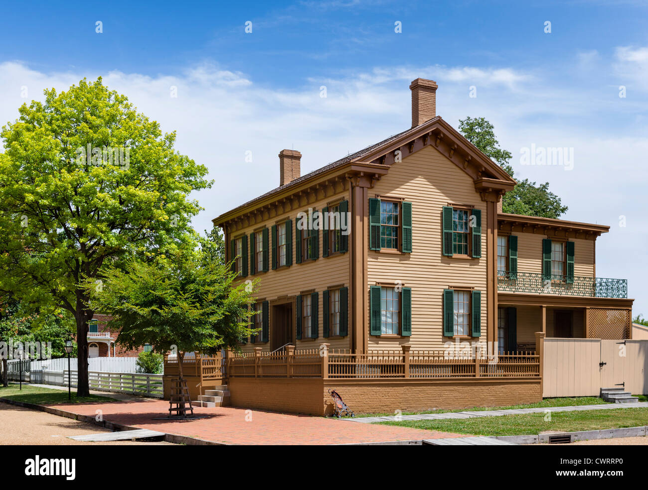 The historic home of Abraham Lincoln in the Lincoln Home National Historic Site, Springfield, Illinois, USA - Stock Image