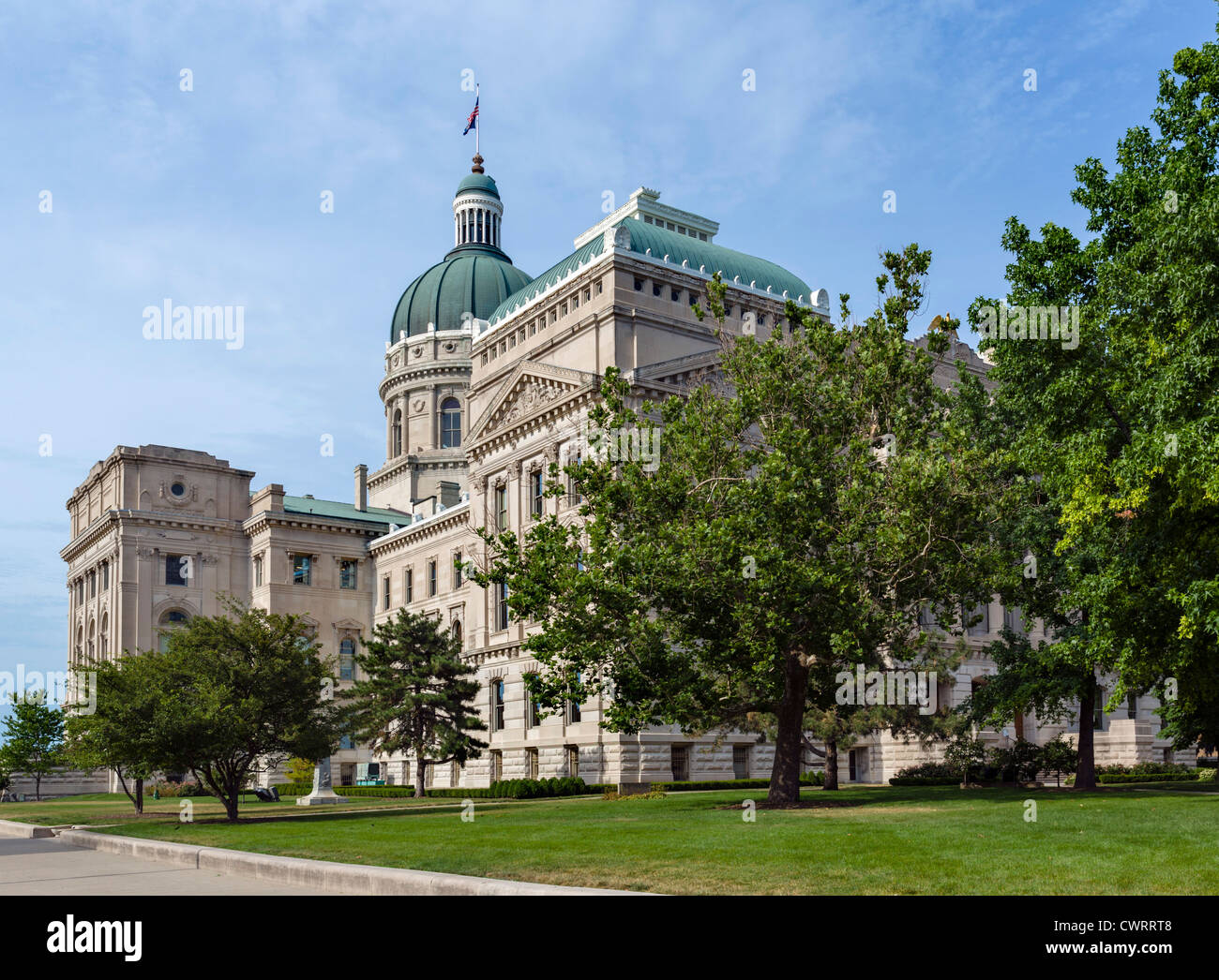 The Indiana Statehouse (State Capitol), Indianapolis, Indiana, USA - Stock Image
