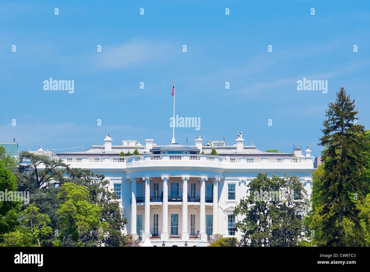 The White House at Washington DC, the residence of the President of the United States. - Stock Image