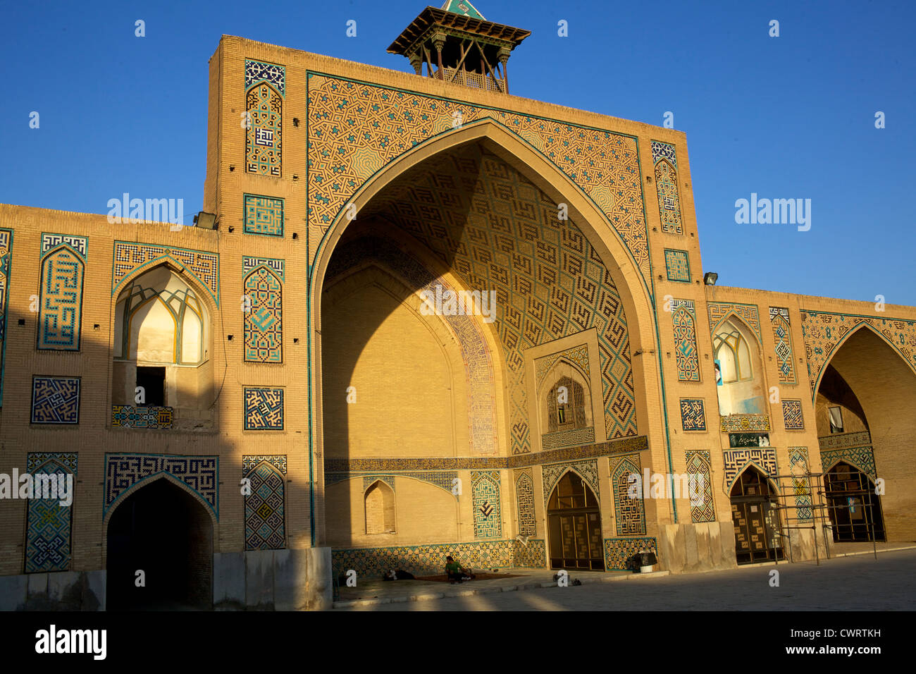 Sightseeing on the Mosque Gigantic  of Isfahan - Stock Image
