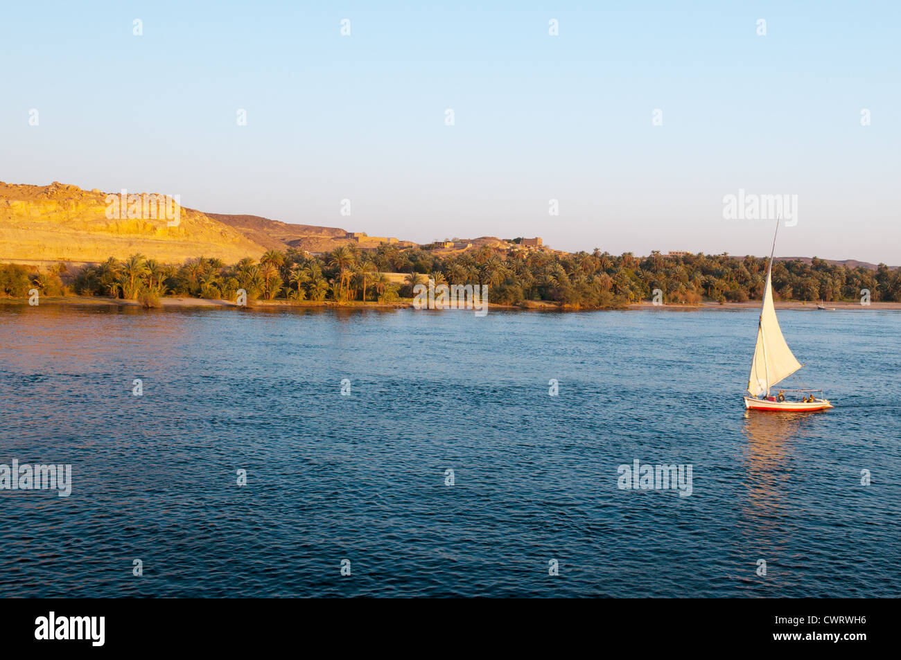 Upper Egypt, Nile river countryside between Luxor and Aswan - Stock Image