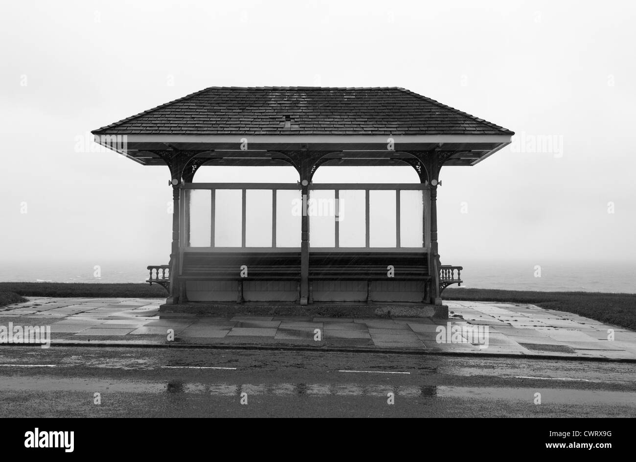 A Rainy day in Whitby, North Yorkshire. - Stock Image