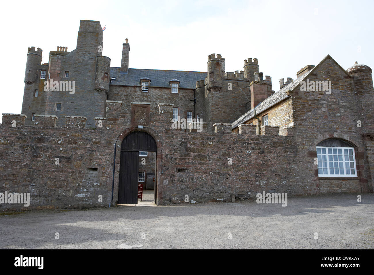 Castle of Mey Caithness scotland uk - Stock Image