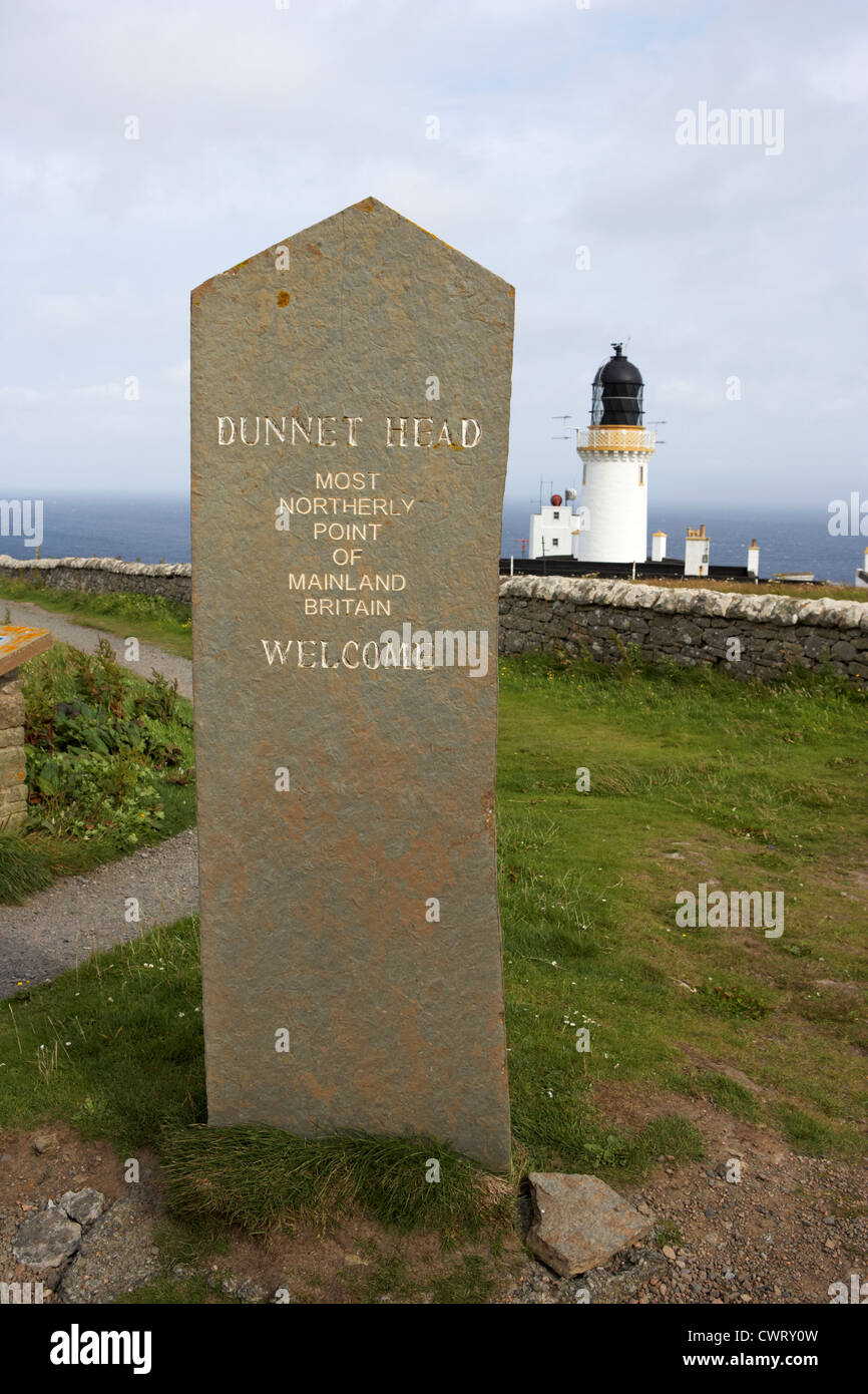 dunnet head most northerly point of mainland britain scotland uk - Stock Image