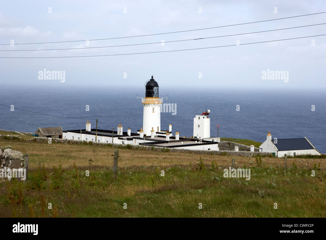 the lighthouse at dunnet head most northerly point of mainland britain scotland uk - Stock Image
