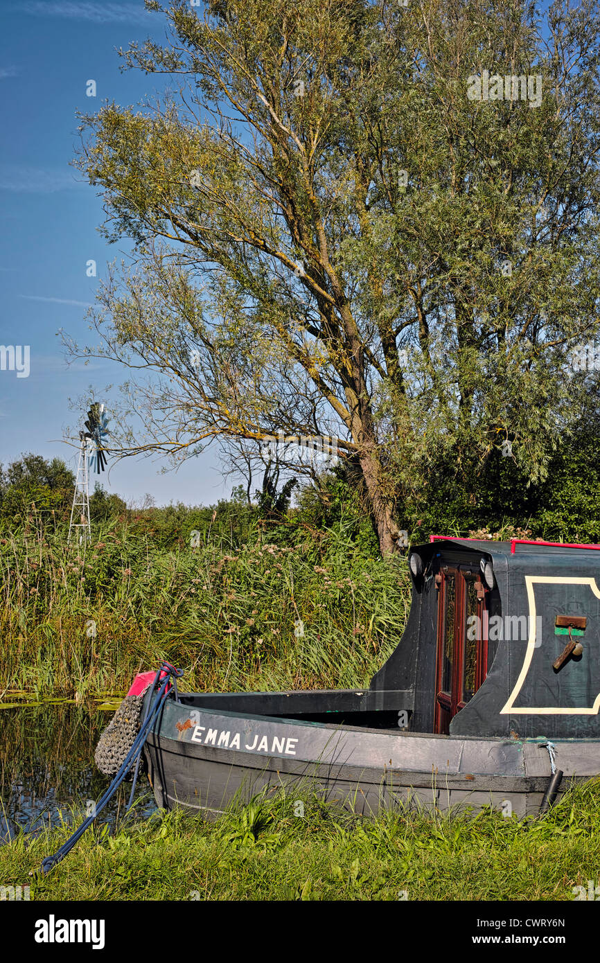 House boat Wicken Fen - Stock Image
