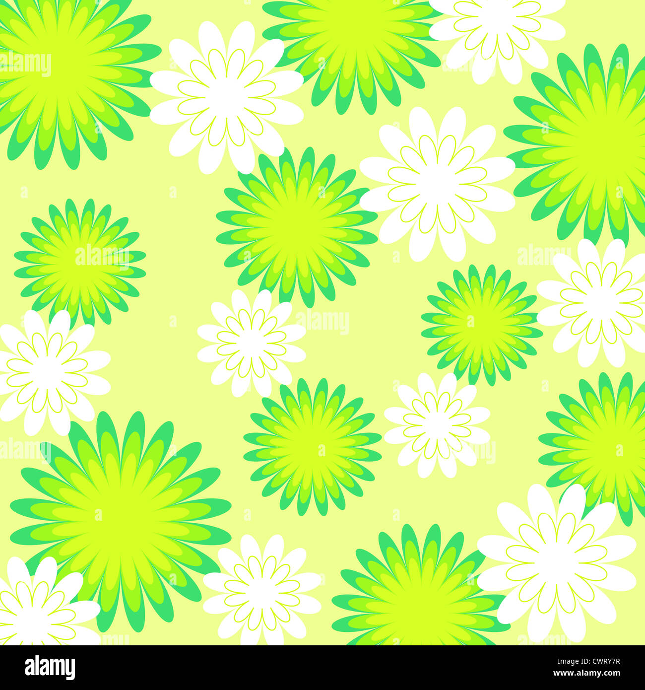 Seamless colorful floral pattern in bright colors Stock Photo