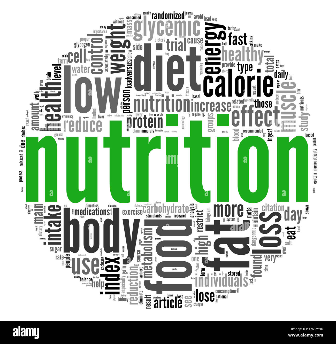 nutrition related words concept in tag cloud on white stock photo