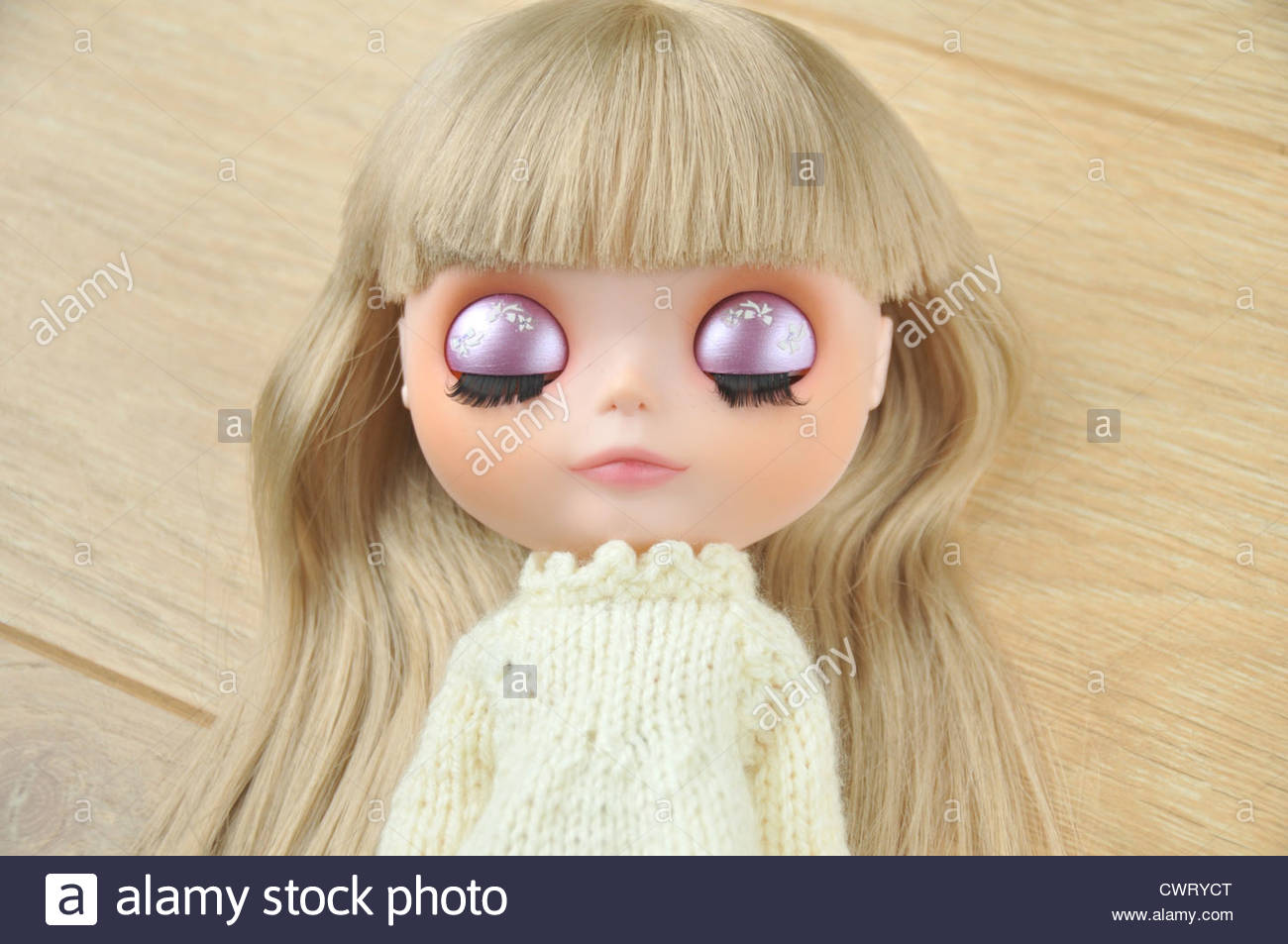 Beautiful art doll - Stock Image