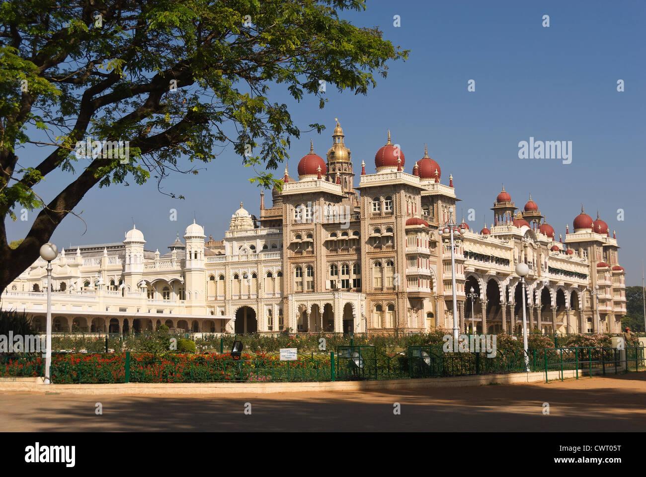 Elk201-2071 India, Karnataka, Mysore, Mysore Palace - Stock Image