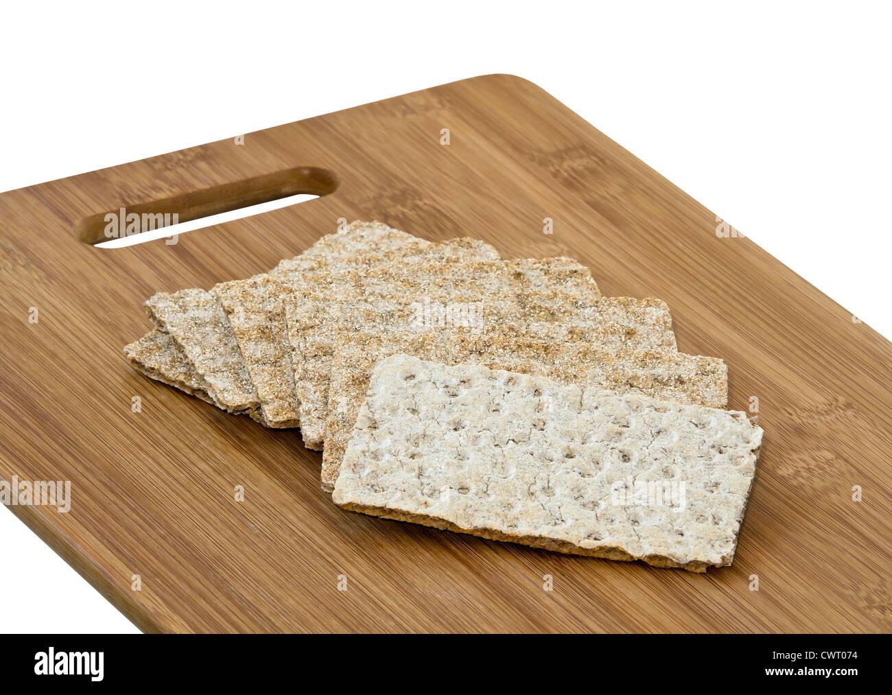 Crisp bread slices - Stock Image