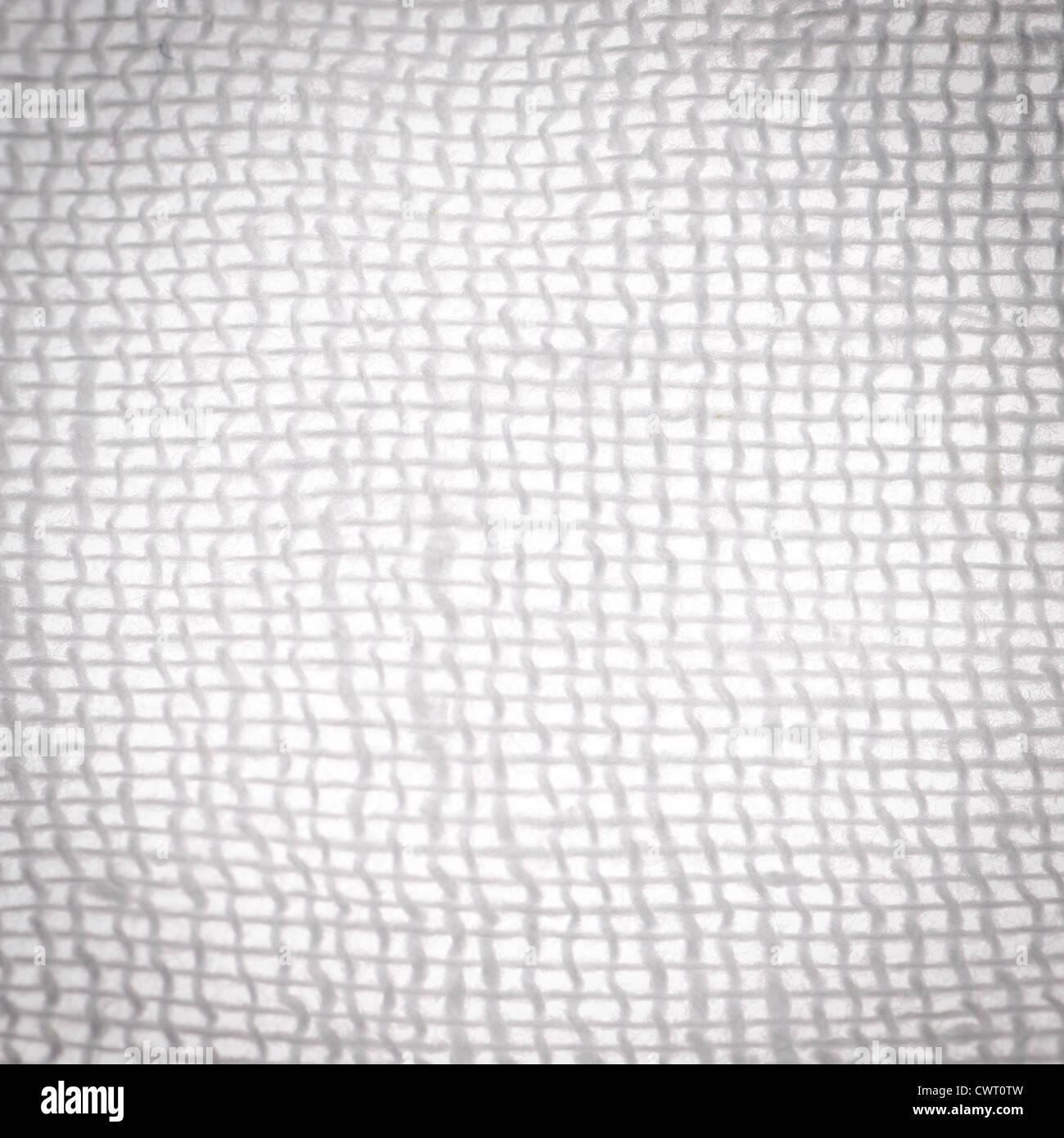 Medical Gauze Detail Texture Background Stock Photo