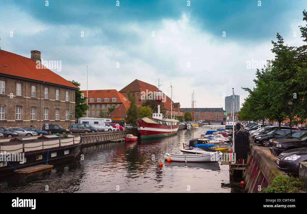Frederiksholms Canal in Copenhagen, Denmark - Stock Image