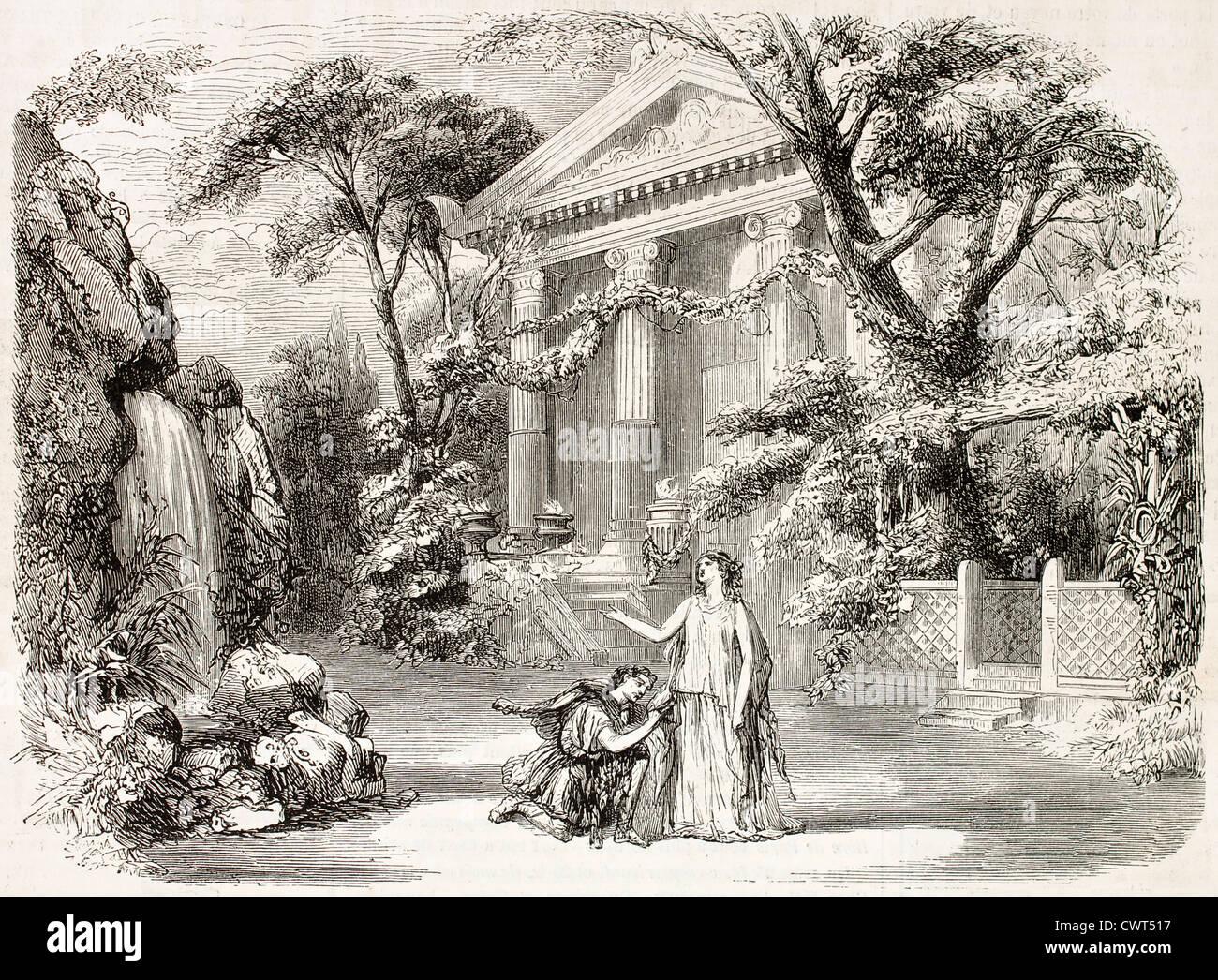 The Goddess and the Shepherd - Stock Image