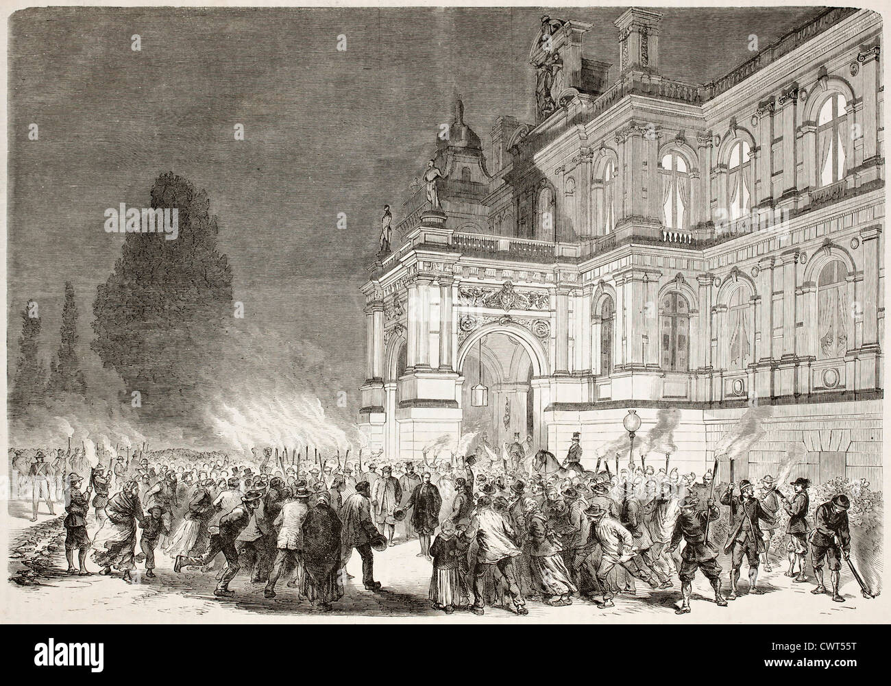 Napoleon III departing from Chateau-Les-Ferrieres - Stock Image