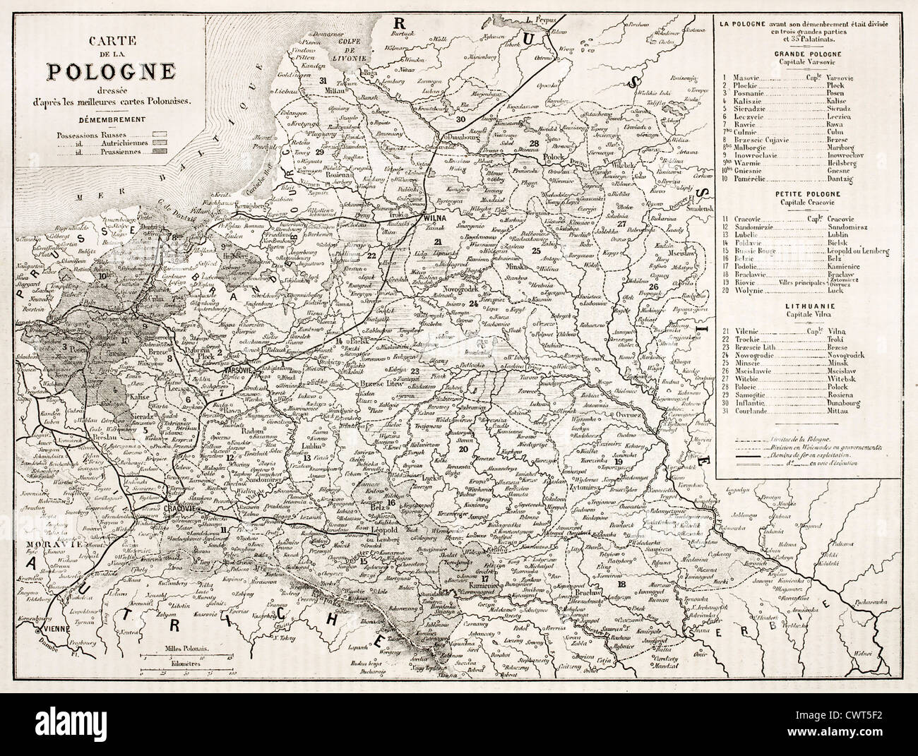 Poland Old Map Stock Photo 50318326 Alamy