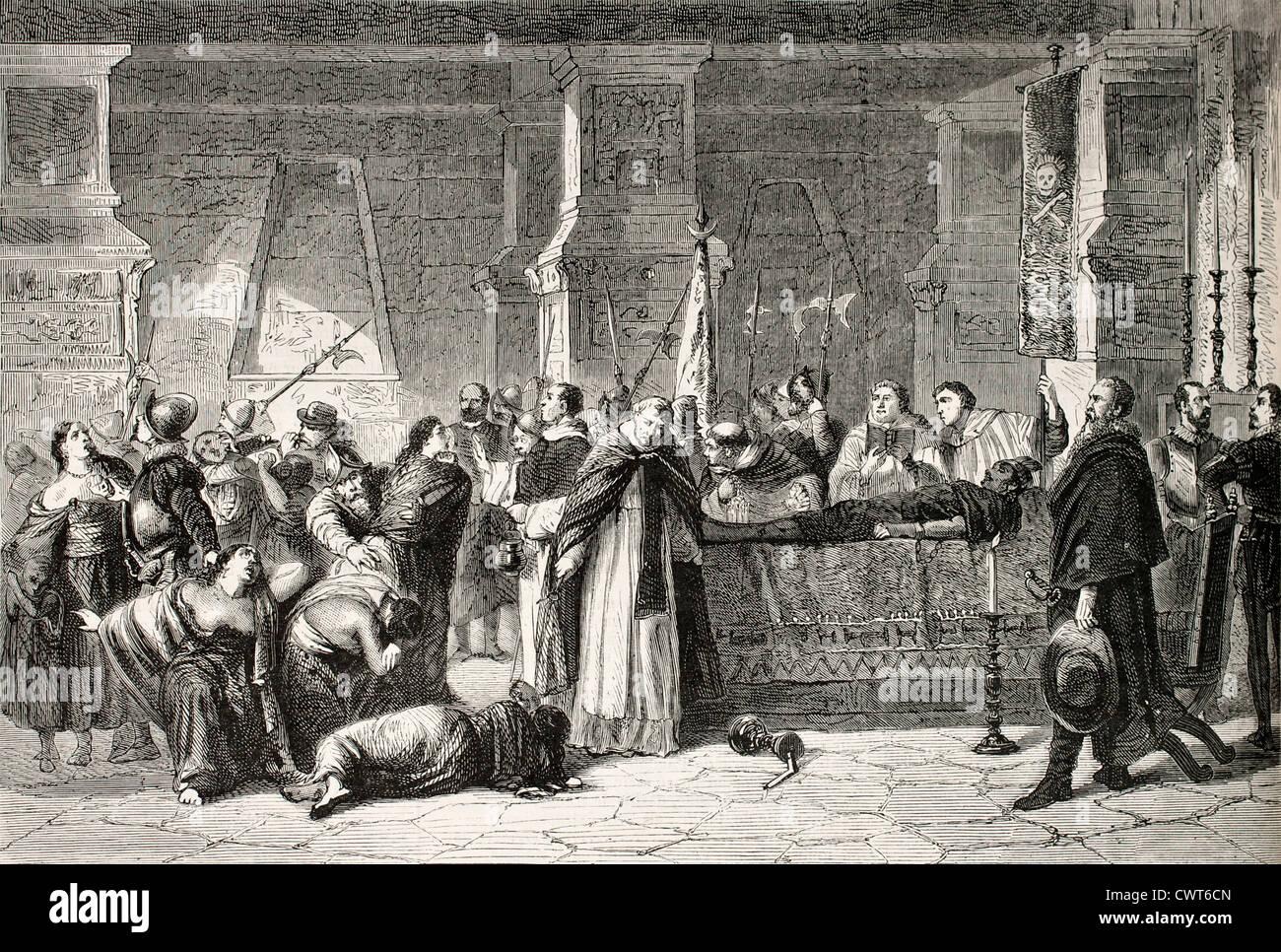 Atahualpa funeral - Stock Image