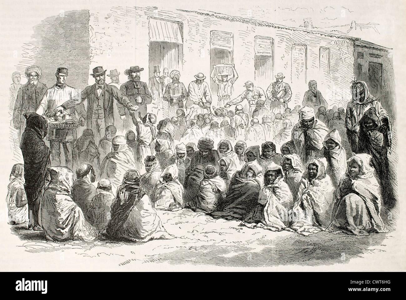 Food distribution - Stock Image