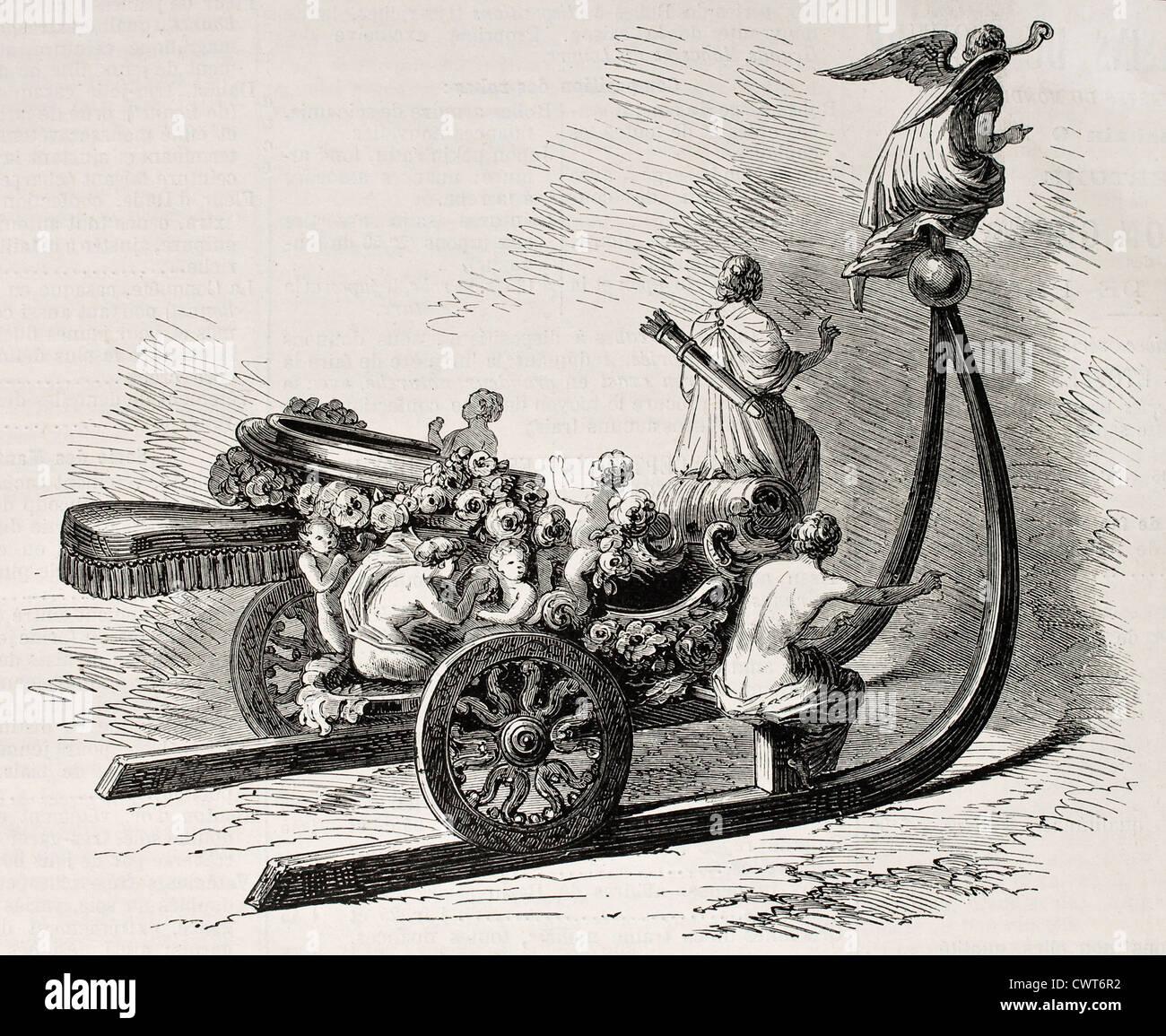 18th century sleigh - Stock Image