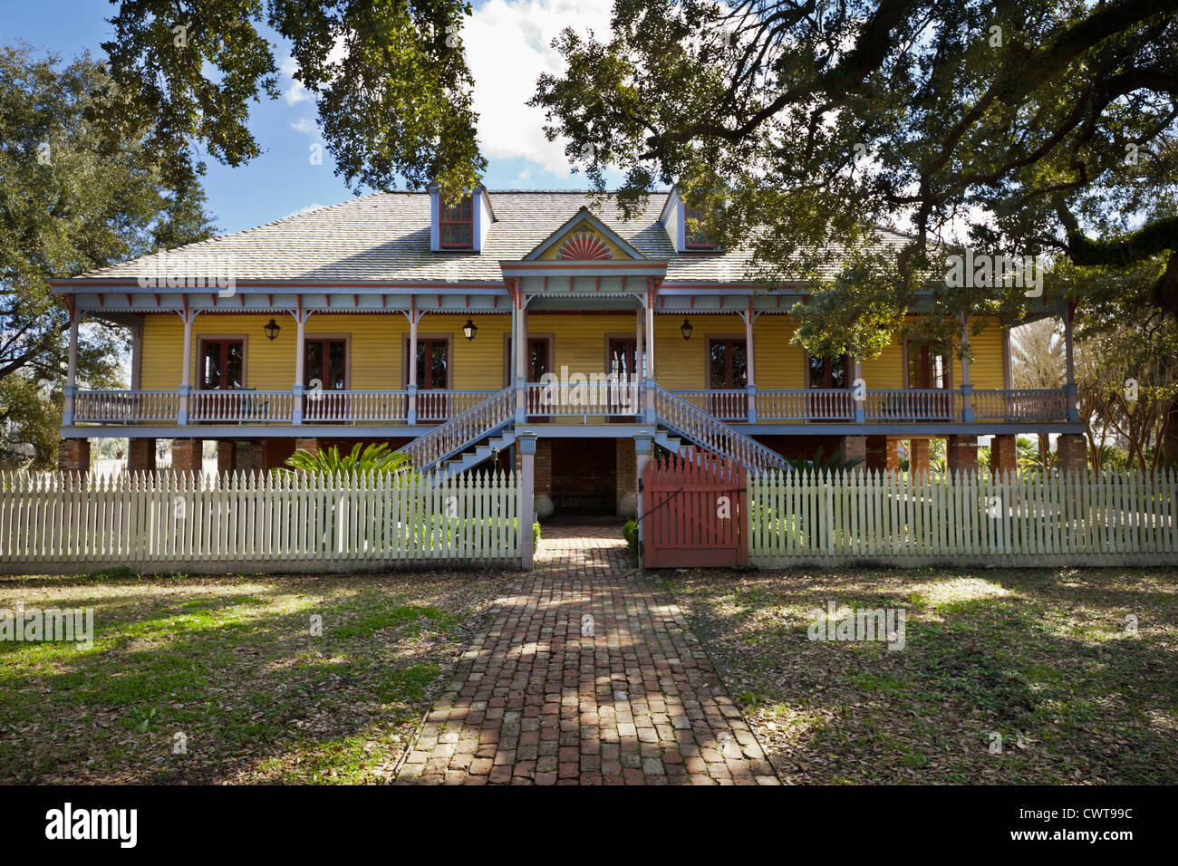 Laura Plantation, River Road, north of New Orleans, Louisiana, successfully managed by Creole women - Stock Image