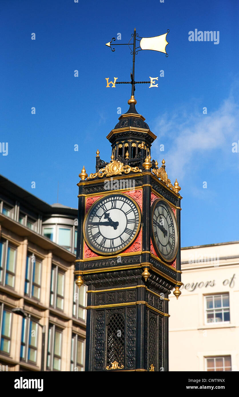 UK. England. London. Little Ben miniature clock tower, situated at the intersection of Vauxhall Bridge Road and - Stock Image