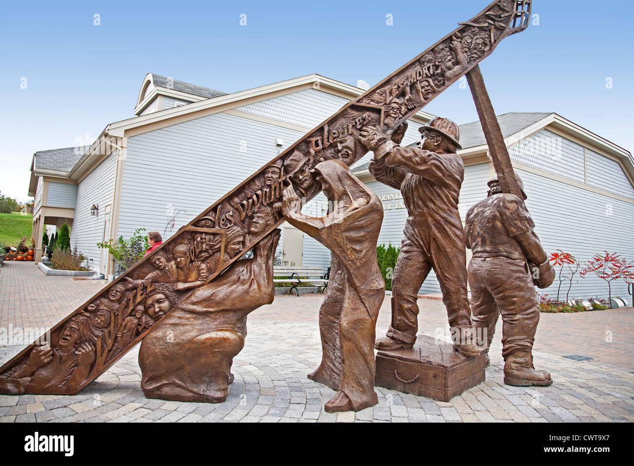 Canada. New Brunswick. City of Saint John. W. Franklin Hatheway Labour Exhibit Center. Monument to all workers killed. - Stock Image
