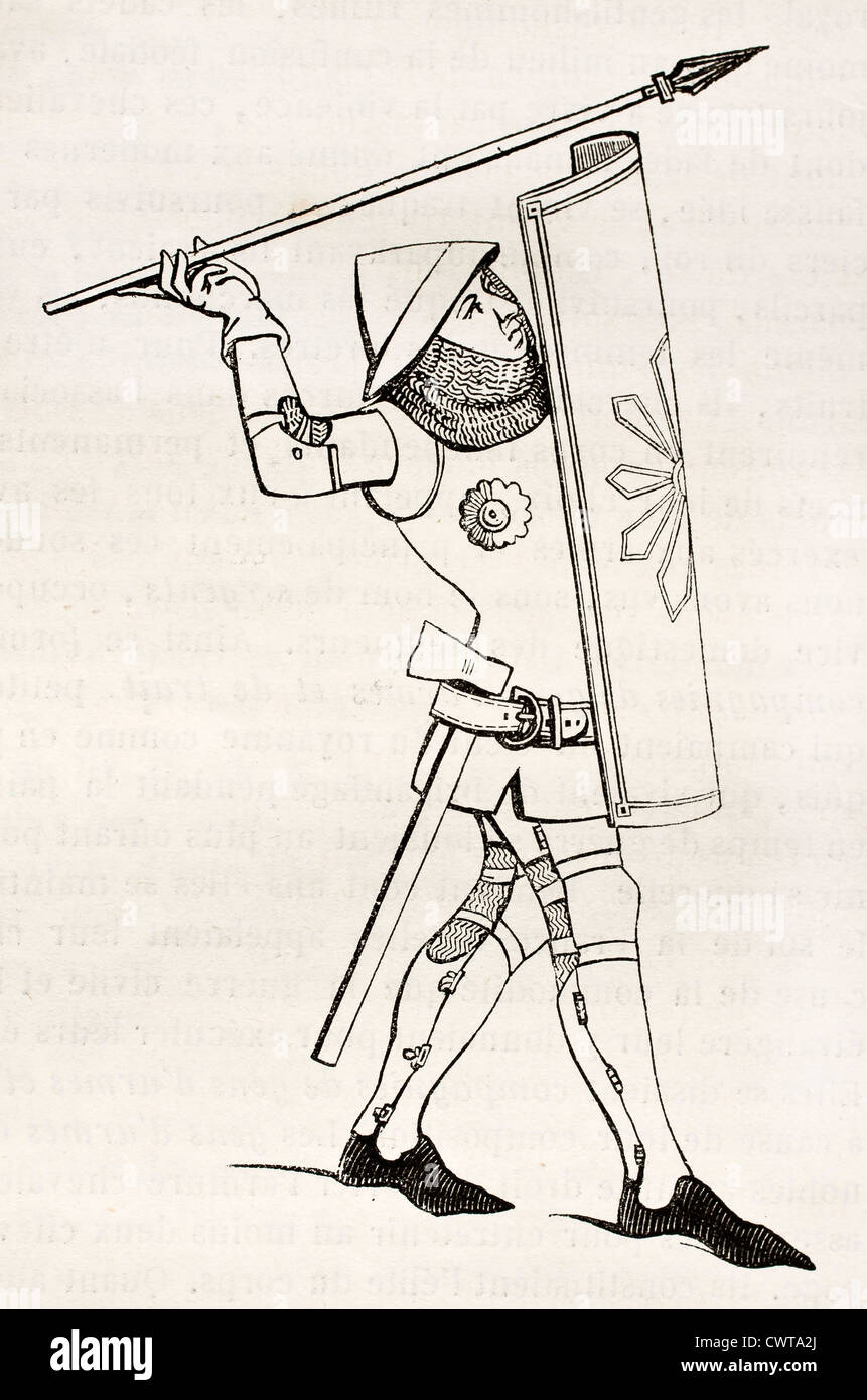 Medieval soldier - Stock Image
