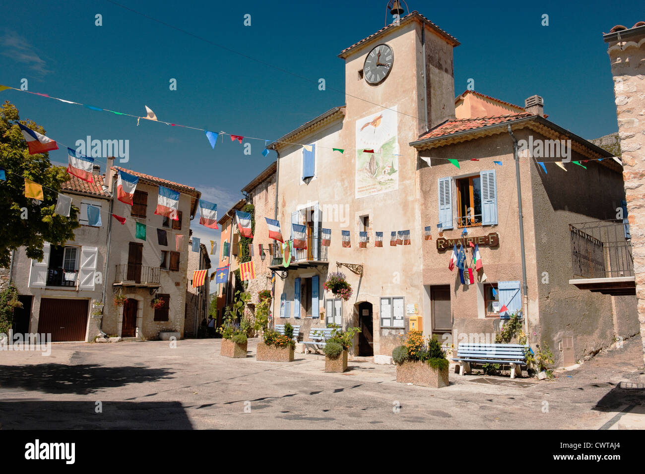 The Village Of Rougon A Village In The Verdon Gorges Area