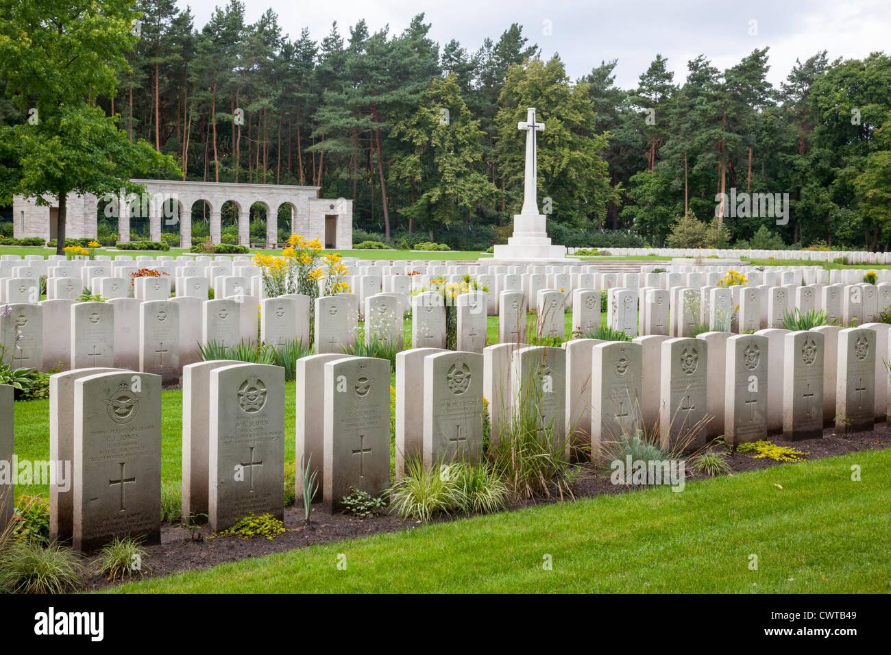 Commonwealth War Cemetery, Heerstrasse, Berlin, Germany - Stock Image