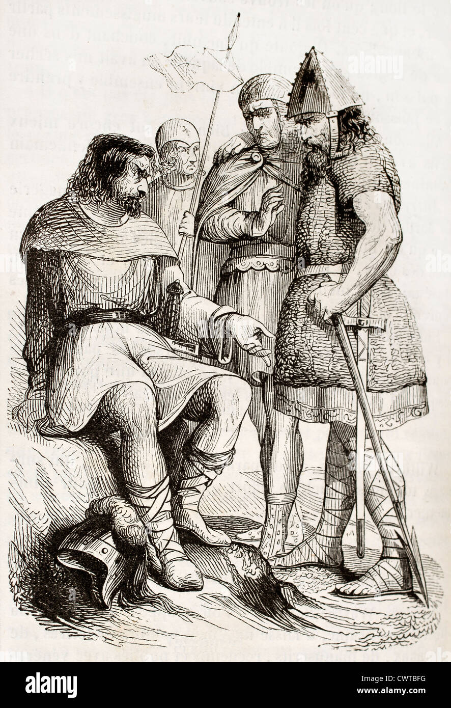 Charlemagne soldiers - Stock Image
