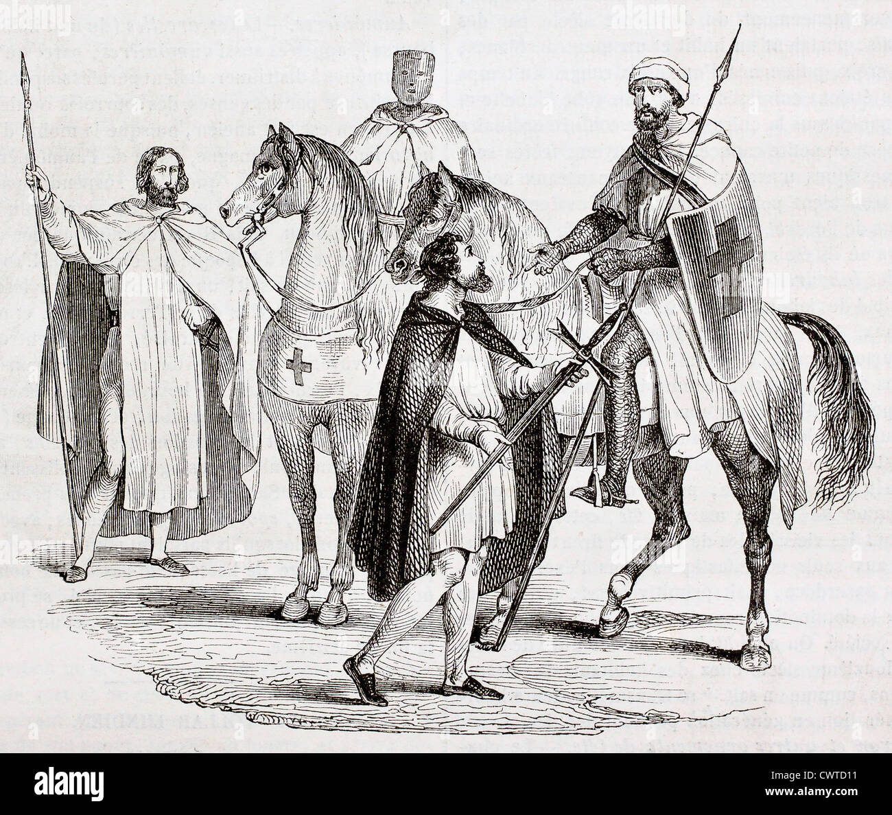 Knights Templar - Stock Image