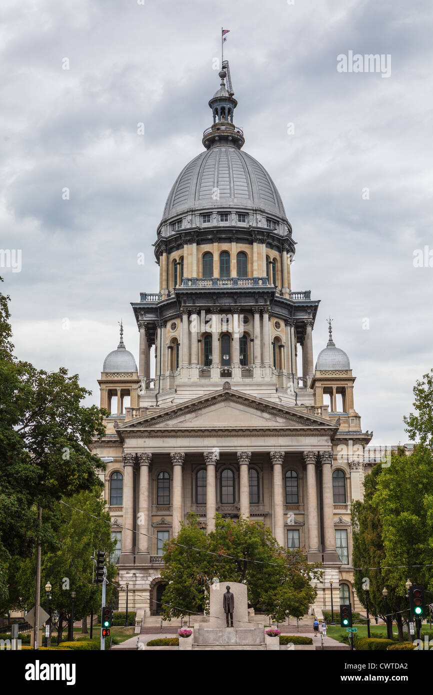 Illinois State Capitol Building, Springfield - Stock Image