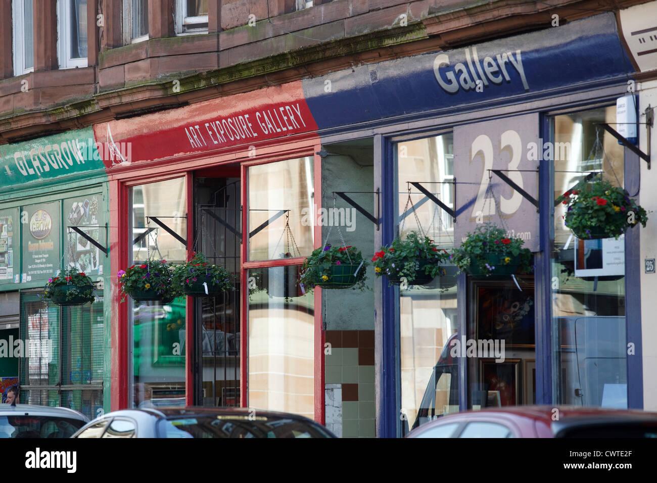 Galleries in Parnie Street. Merchant City Area, Glasgow. - Stock Image