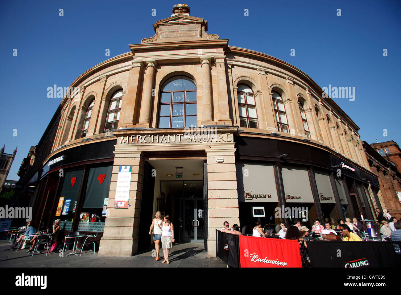 Merchant Square .Candleriggs Merchant City Area, Glasgow. - Stock Image