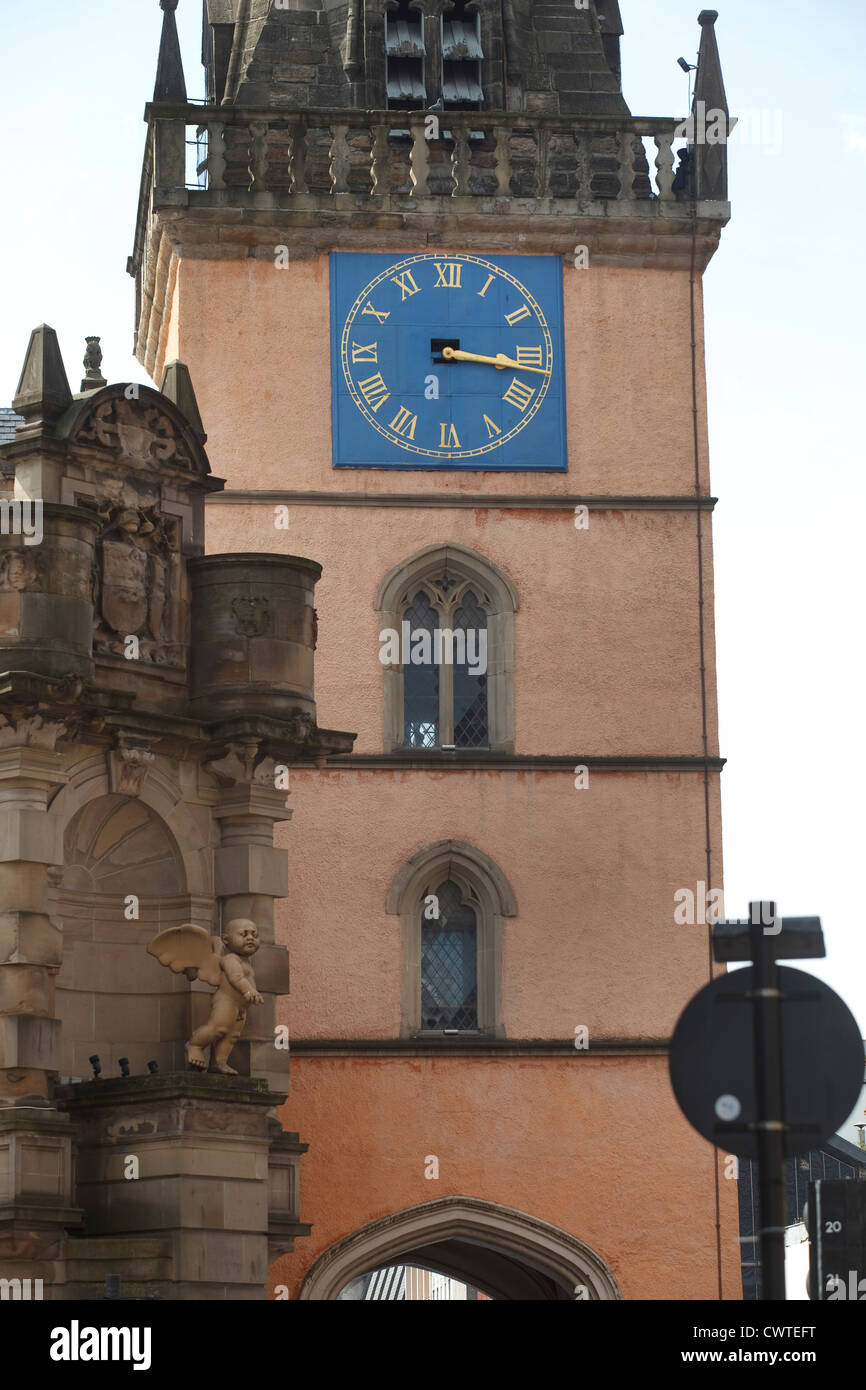 The Tron Clock,Trongate Merchant City Area, Glasgow. - Stock Image