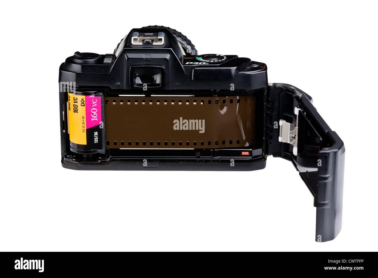 Pentax 35mm film camera. - Stock Image