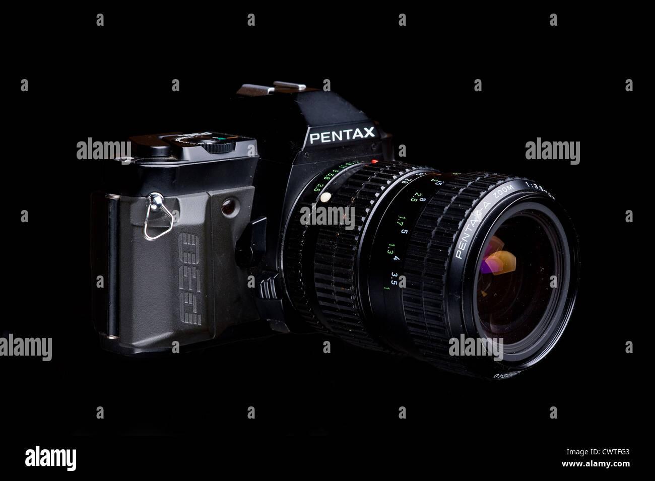 Pentax 35mm film camera. Stock Photo